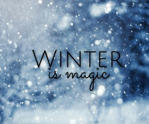 cold, magic, and snow image