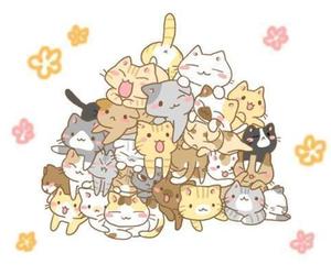 cat, kawaii, and anime image
