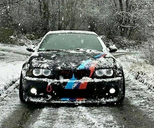 black, winter, and bmw image