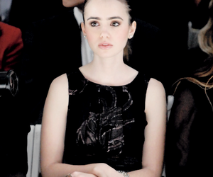 lily collins, black and white, and city of bones image