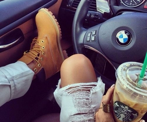 bmw, starbucks, and car image