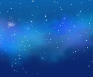 blue, stars, and galaxy image