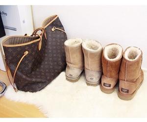 bag, LV, and girl image
