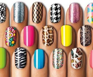 nails, butterfly, and colors image