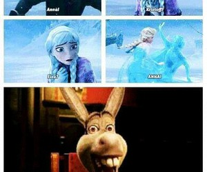 frozen, donkey, and elsa image