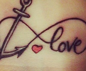 anchor and love tattoos image