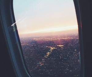 travel, city, and airplane image