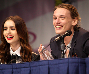 couple and Jamie Campbell Bower image