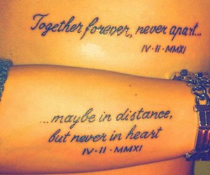 forever, love, and couple tattoos image