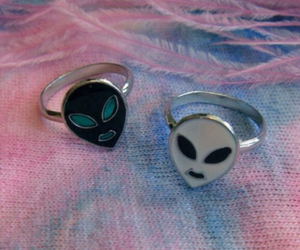 alien, rings, and fashion image