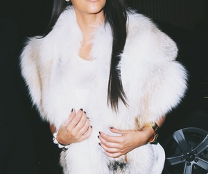 kim kardashian, luxury, and fur image