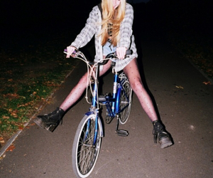 girl, grunge, and bike image