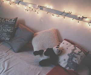 bedroom, christmas, and panda image