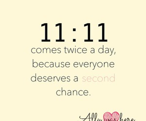 chances, 11:11, and true image