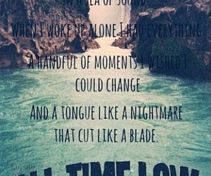 all time low, Lyrics, and band image
