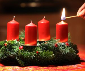 candles, christmas, and advent image
