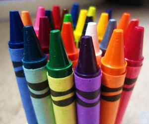 art, colors, and crayons image