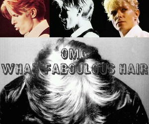 blonde, david bowie, and hair image
