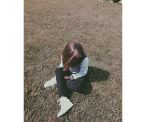 alone, grunge, and hair image