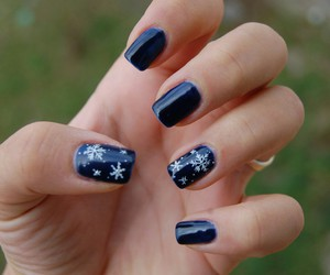 nails, blue, and december image