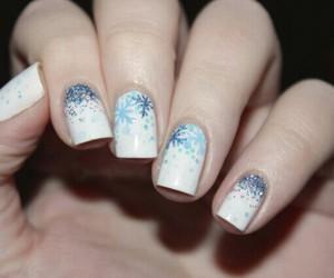 nails, nail art, and snowflake image