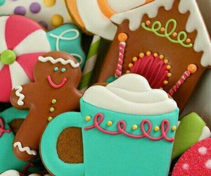 christmas, colorful, and Cookies image