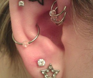 piercing, tattoo, and star image