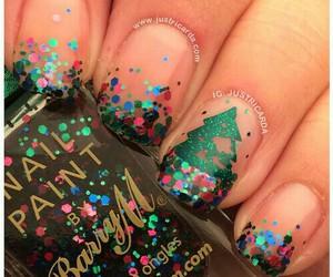 christmas, nail art, and nail polish image