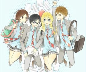 anime, shigatsu wa kimi no uso, and kousei arima image