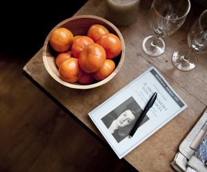 book, novel, and orange image