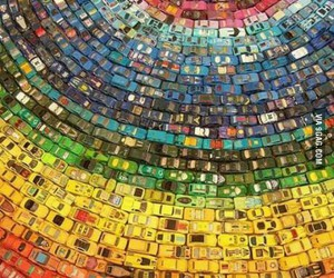 cars, pretty, and colours image