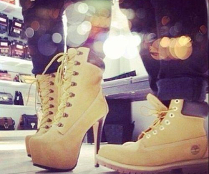 shoes, couple, and timberland image