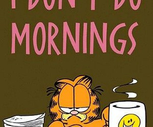 garfield, morning, and cat image