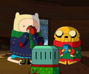 adventure time, christmas, and JAKe image