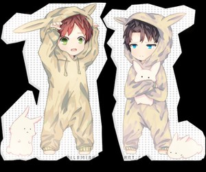kawaii, levi, and eren image