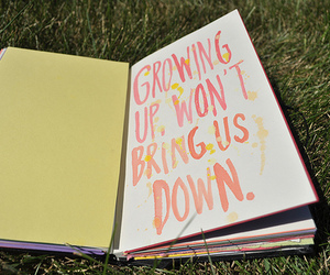 book, growing up, and text image