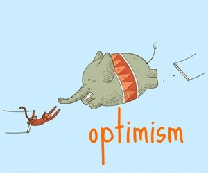 optimism, elephant, and monkey image