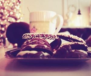 festive, lights, and tea image