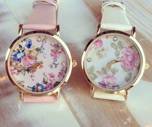 elegant, floral, and watch image