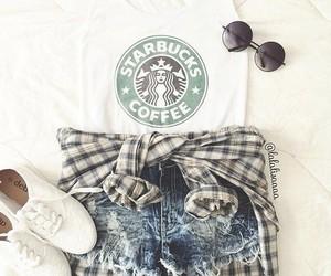 fashion, starbucks, and shorts image