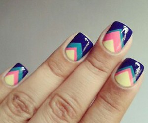 art, nails, and blue image