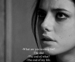 black and white, effy stonem, and end image