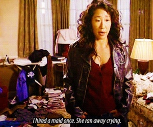 cristina yang, greys anatomy, and funny image