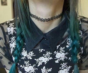 grunge, hair, and choker image