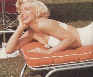 50's, blonde, and fashion image