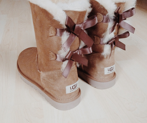 bows, shoes, and ugg image