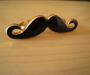 fashion, ring, and mustache image