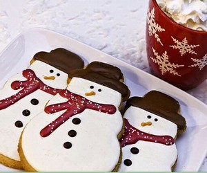 christmas, Cookies, and hot ​chocolate image