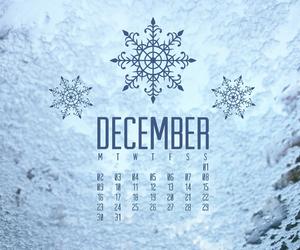 december, snow, and calendar image