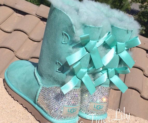 boots, blue, and diamonds image